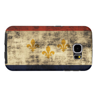 Vintage Grunge New Orleans Flag Samsung Galaxy S6 Cases