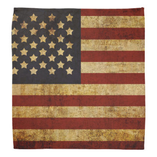 Vintage Grunge Patriotic USA American Flag Do-rags