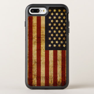 Vintage Grunge Patriotic USA American Flag OtterBox Symmetry iPhone 8 Plus/7 Plus Case