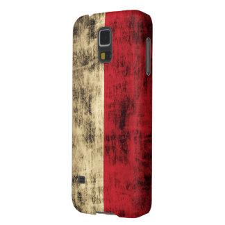 Vintage Grunge Polish Flag Galaxy S5 Covers