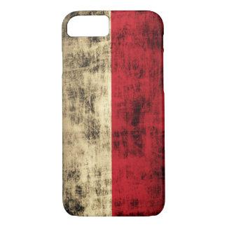 Vintage Grunge Polish Flag iPhone 7 Case
