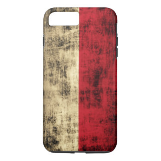 Vintage Grunge Polish Flag iPhone 7 Plus Case