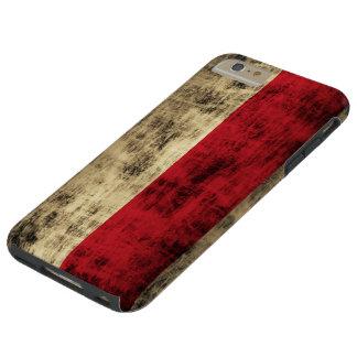 Vintage Grunge Polish Flag Tough iPhone 6 Plus Case