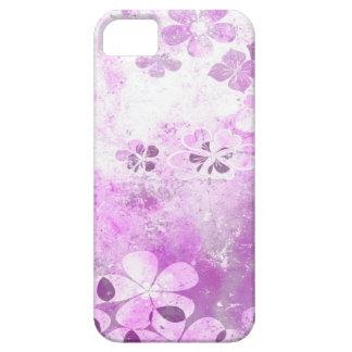 Vintage grunge purple floral pattern iPhone 5 cases