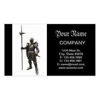 Vintage grunge renaissance medieval Knight Pack Of Standard Business Cards