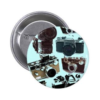 Vintage Grunge Retro Cameras Fashion 6 Cm Round Badge