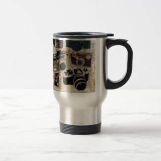 Vintage Grunge Retro Cameras Fashion 15 Oz Stainless Steel Travel Mug
