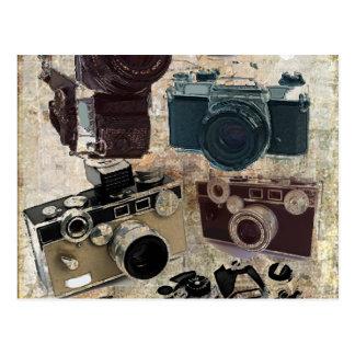 Vintage Grunge Retro Cameras Fashion Post Cards