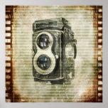 Vintage Grunge Retro Cameras film urban Poster