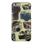 Vintage Grunge Retro Cameras Pattern Barely There iPhone 6 Case