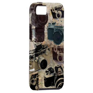 Vintage Grunge Retro Cameras Pattern Case For The iPhone 5