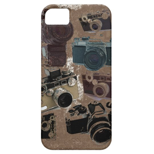 Vintage Grunge Retro Cameras Pattern iphone5 case