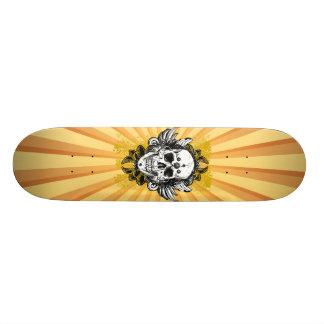 Vintage Grunge Skull Skateboard