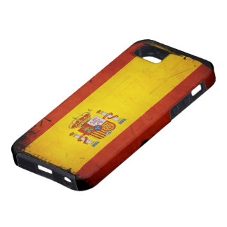 Vintage Grunge Spain Flag Tough iPhone 5 Case