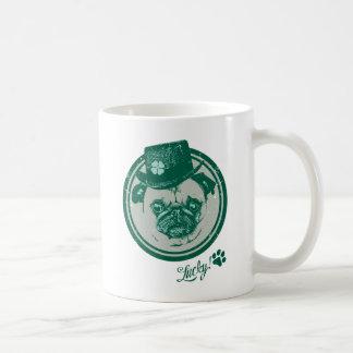 Vintage Grunge St Patrick's Day Pug Tees Coffee Mug