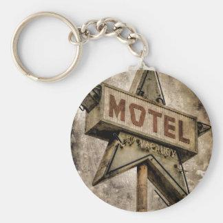 Vintage Grunge Star Motel Sign Key Chains