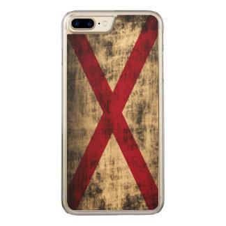 Vintage Grunge State Flag of Alabama Carved iPhone 7 Plus Case