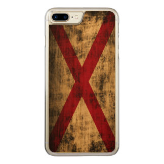 Vintage Grunge State Flag of Alabama Carved iPhone 8 Plus/7 Plus Case