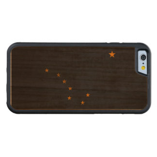Vintage Grunge State Flag of Alaska Carved Cherry iPhone 6 Bumper Case