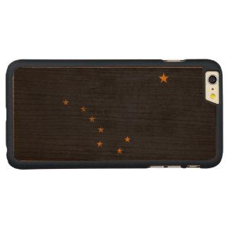 Vintage Grunge State Flag of Alaska Carved Cherry iPhone 6 Plus Case