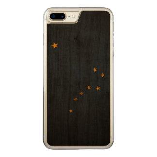 Vintage Grunge State Flag of Alaska Carved iPhone 7 Plus Case