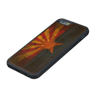 Vintage Grunge State Flag of Arizona Carved Cherry iPhone 6 Bumper Case