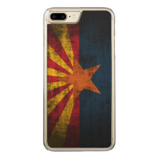 Vintage Grunge State Flag of Arizona Carved iPhone 7 Plus Case