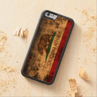 Vintage Grunge State Flag of California Republic Carved Cherry iPhone 6 Bumper Case