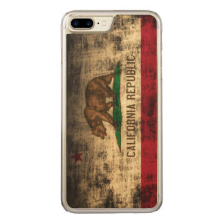 Vintage Grunge State Flag of California Republic Carved iPhone 7 Plus Case