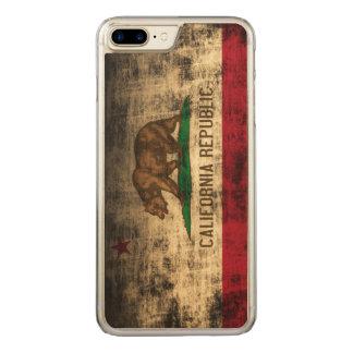 Vintage Grunge State Flag of California Republic Carved iPhone 8 Plus/7 Plus Case