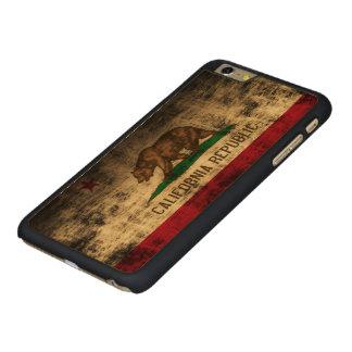 Vintage Grunge State Flag of California Republic Carved® Maple iPhone 6 Plus Slim Case