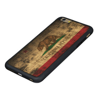 Vintage Grunge State Flag of California Republic Carved® Maple iPhone 6 Plus Bumper