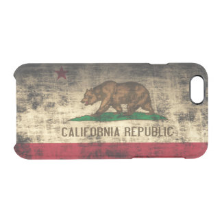 Vintage Grunge State Flag of California Republic Clear iPhone 6/6S Case
