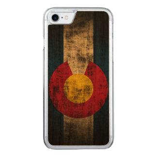 Vintage Grunge State Flag of Colorado Carved iPhone 7 Case