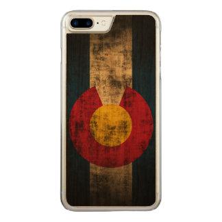 Vintage Grunge State Flag of Colorado Carved iPhone 7 Plus Case
