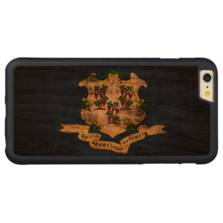 Vintage Grunge State Flag of Connecticut Carved® Cherry iPhone 6 Plus Bumper Case