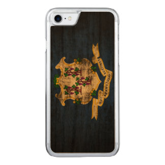 Vintage Grunge State Flag of Connecticut Carved iPhone 7 Case
