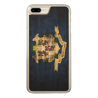 Vintage Grunge State Flag of Connecticut Carved iPhone 8 Plus/7 Plus Case