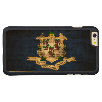 Vintage Grunge State Flag of Connecticut Carved® Maple iPhone 6 Plus Case