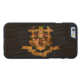 Vintage Grunge State Flag of Connecticut Carved® Cherry iPhone 6 Slim Case