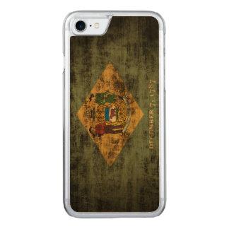 Vintage Grunge State Flag of Delaware Carved iPhone 7 Case