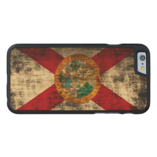 Vintage Grunge State Flag of Florida Carved Maple iPhone 6 Case