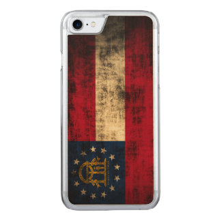 Vintage Grunge State Flag of Georgia Carved iPhone 8/7 Case