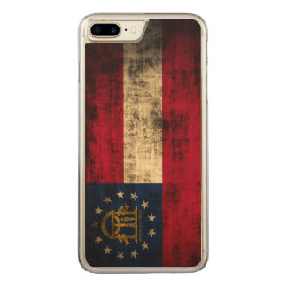 Vintage Grunge State Flag of Georgia Carved iPhone 8 Plus/7 Plus Case