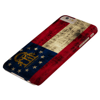 Vintage Grunge State Flag of Georgia Barely There iPhone 6 Plus Case