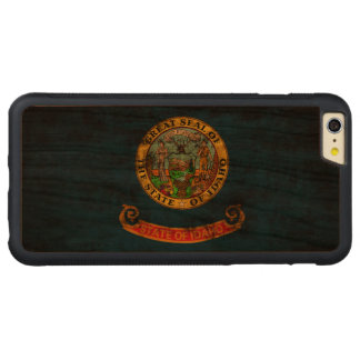 Vintage Grunge State Flag of Idaho Carved® Cherry iPhone 6 Plus Bumper Case