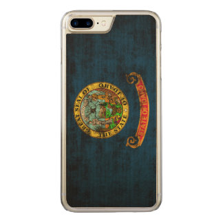 Vintage Grunge State Flag of Idaho Carved iPhone 7 Plus Case