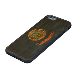 Vintage Grunge State Flag of Idaho Carved® Cherry iPhone 6 Bumper