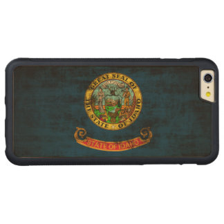 Vintage Grunge State Flag of Idaho Carved® Maple iPhone 6 Plus Bumper
