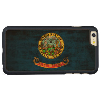 Vintage Grunge State Flag of Idaho Carved® Maple iPhone 6 Plus Case